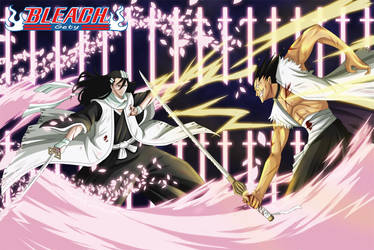 Byakuya vs Kenpachi by Nouin