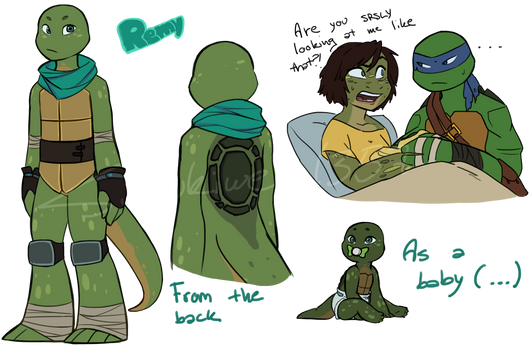 TMNT: Remy Gordon-Hamato (RE-DESIGN) by Suzukiwee1357