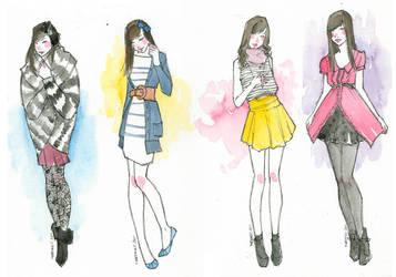 Fashion pinups by martinacecilia