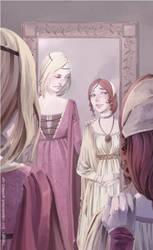 'the gods have been kind to you, Sansa' by martinacecilia