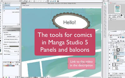Panels and balloons in manga studio 5 - tutorial by martinacecilia