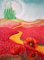 Poppies Outside the Emerald City by LevyTheMachine