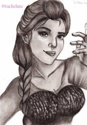 Princess Elsa in Realism by Rachelute