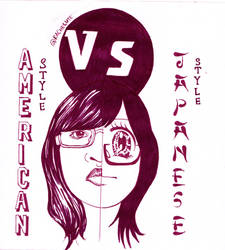 American Style vs Japanese Style by Rachelute