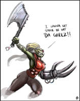 Ork-chan by IronShrineMaiden