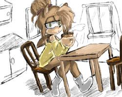 Morning Coffee by Yukidog674