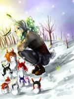 Snowfriends by demicintaapatakbisa