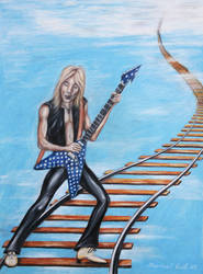 Randy Rhoads by mikecook