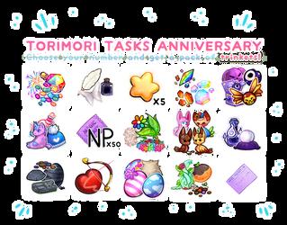 {closed} {Torimori} Tasks Anniversary Lotto! by Alisenokmice