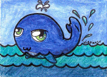 Chibi Whale ACEO by xLapinasx