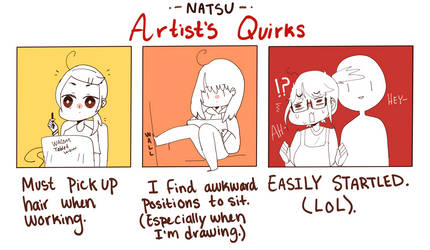 Artists Quirks by Natsukoii