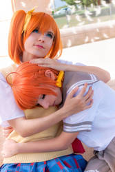 Honoka and Chika, Love Live! by Doriri-chan