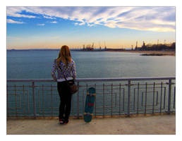 loneliness, skate, sea and... by MechanicalAlpha