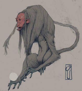 Seated Simian by PesthDeLinz