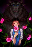 the beauty and the beast by AireensColor