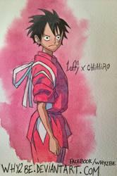 ONE PIECE X GHIBLI : Luffy by Why2be