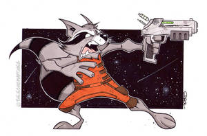 Rocket Raccoon. by THEjesusmarquez