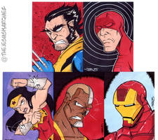 Sketch Cards by THEjesusmarquez