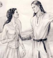 Aredhel and Celegorm closer by Filat