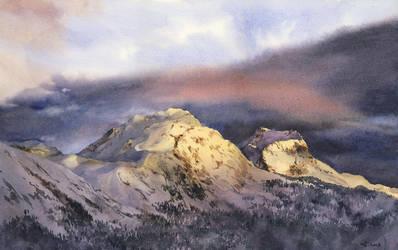 Sunrise peaks - 3 by Filat