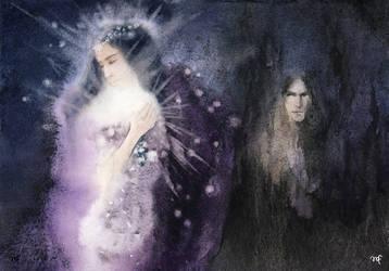 Morgoth and women / Varda and Melkor by Filat
