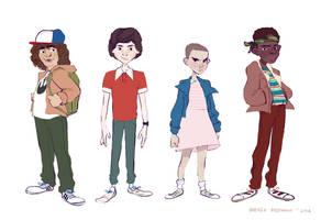 Stranger Things Kids by foxcrusade