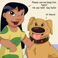 Lilo's New Talking Dog by LeafFox
