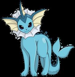 Vaporeon: Kanto Pokemon Collaboration by LeafFox