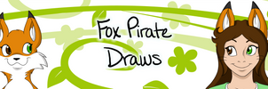 FoxPirate Draws Logo by LeafFox
