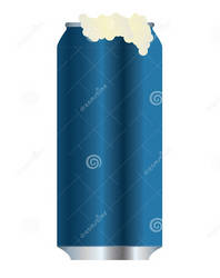 Blue aluminum can. by zonnyjhon