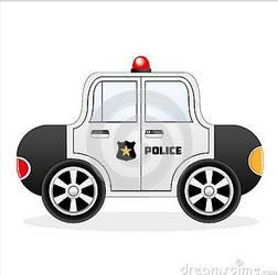 Cartoon Police Car by zonnyjhon