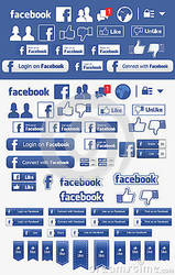 Facebook set elements icons by zonnyjhon