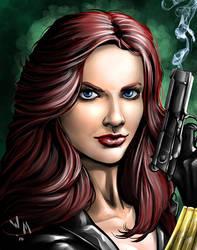 Black Widow Portrait by quibly