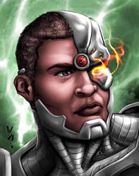 Cyborg Portrait by quibly
