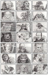 80's Monster Sketches by quibly
