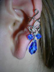 Sapphire Ear Cuff by Amthyst