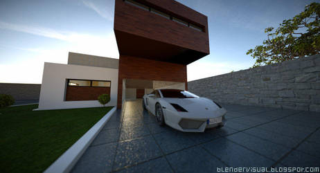 Exterior home lamborghini shot 5 by str9led