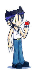 Chibi Wolverine Sketchie by runeechan