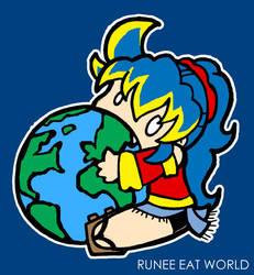 Runee Eat World by runeechan