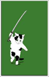 Katana Kitten by Andimia