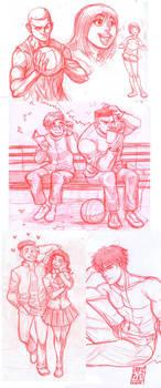 Slam Dunk Sketches fanart by KarlaDiazC