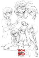 Sketch female character by KarlaDiazC