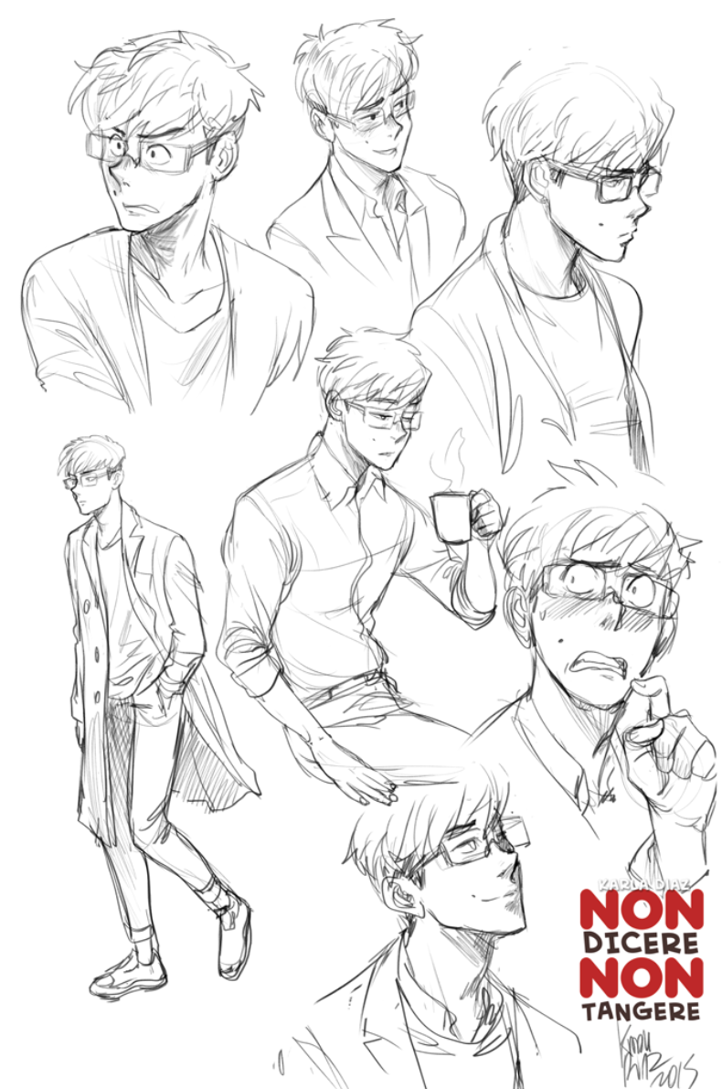 Sketch male character by KarlaDiazC