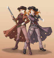 Cowgirls commission! by KarlaDiazC