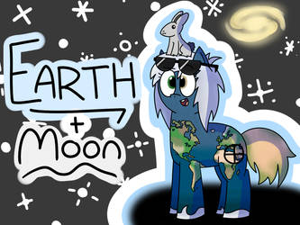 Planet Ponies - Earth and Moon by Oddiology