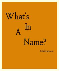 What's in a name? by aNd891