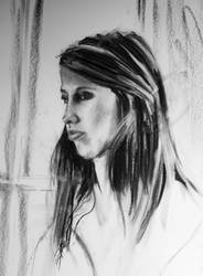 My Daughter in Charcoal by LovinFineArtistry