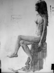 A nude Study from school by LovinFineArtistry