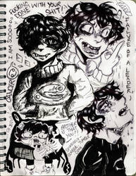 Karkat Vantas Sketches by spiffinly-corbee