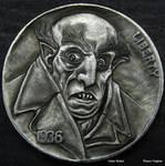 Re Carved Nickel Nosferatu Dracula by Shaun Hughes by shaun750